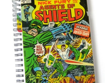 Nick Fury Journal & Sketchbook // Recycled Vintage Comic // Agents of SHIELD