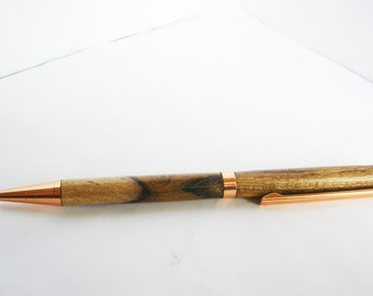 pen turned from laburnum