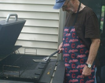 Cleveland Indians full barbeque apron