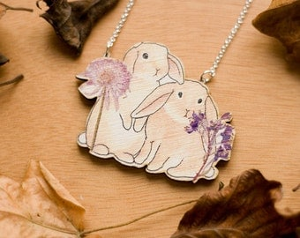 Woodland Bunnies Necklace