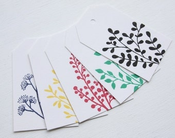 Botanical Tags Set of 5