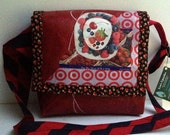 Berry Love Fused Plastic Messenger Bag