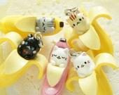 1pc Kawaii Banyanya / Kitty Cat in Banana ((#2 only))) AZ160