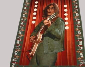 Vintage Printed JOHN LENNON Beatles cotton fabric panel