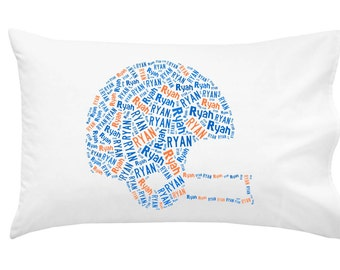 Personalized Pillowcase For The University Of Florida Gator Fan Pillow Room  Decor Football Graduation Gift
