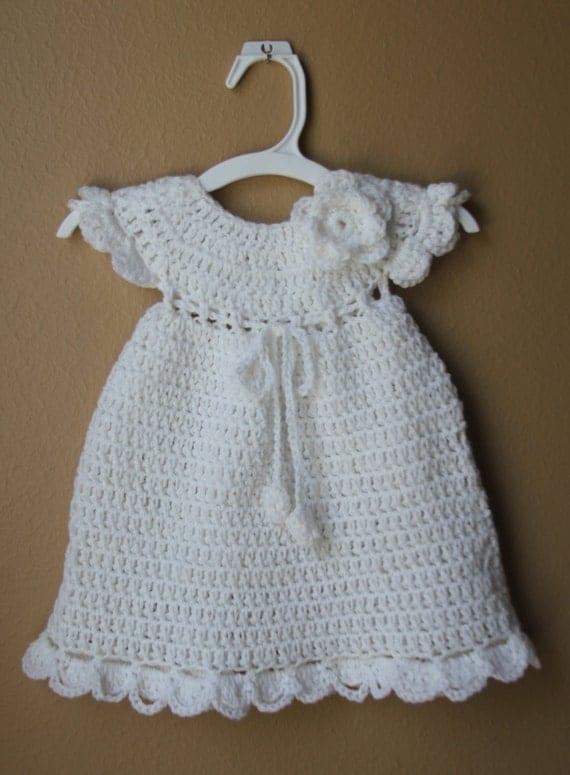 Bebé niña recién nacido tejido vestido de bautizo vestido bebé