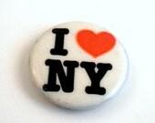 Vintage I Love New York Pinback Button I Heart NY New York City Memorabilia