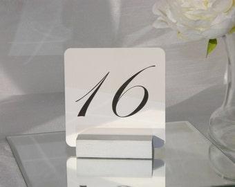 Table Number Holder + Silver Table Number Holder - Silver Wedding Table Number Holder - Set of 10