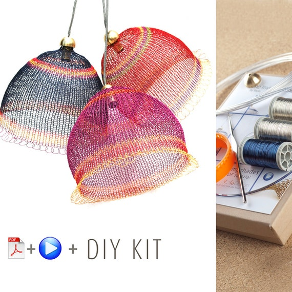pendant light kit diy pendant light kits wire crochet by yoola. Black Bedroom Furniture Sets. Home Design Ideas