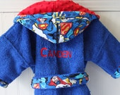 Child-Robes-Boys-SUPERMAN-Man-of-Steel-Bath-Sleepwear-Pajamas-Hooded-Towels-Terry-Swim-Cover-Up-Hoiliday-Gifts-Kids-Christmas-Baby&Kids-2-6