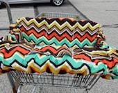 Shopping Cart cover for boy or girl.....Chevy Chevron RETRO