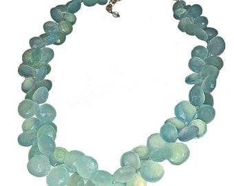 Chalcedony Ruffle Necklace