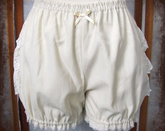 Ivory Micro mini bloomers adult women