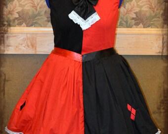 Lolita babydoll harlequin super hero cosplay dress
