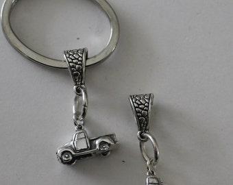 Sterling 3D PICK UP TRUCK Key Ring - Key Chain - Transportation