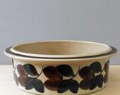 "Arabia Finland  Troubadour. Ruija 9"" round vegetable bowl. Made in Finland."