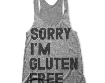 Sorry I'm Gluten Free (Women's Racerback Tank)