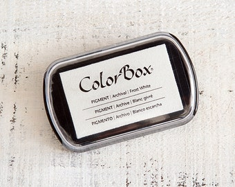 WHITE! ColorBox Archival Pigment Ink Pads Stamp Pad - Frost White - Standard Size