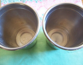 two little vintage aluminum tumblers