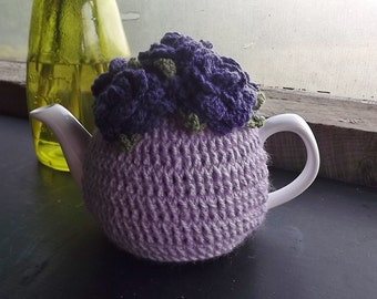 Lavender and Purple Rose, Small, Tea Pot Cozy