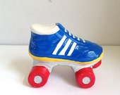 vintage kids bank ceramic roller skate