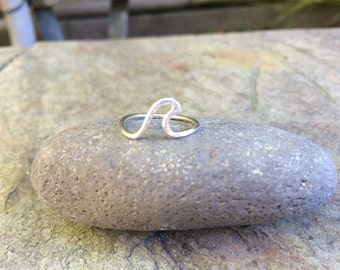 Sterling Silver Single Wave Ring