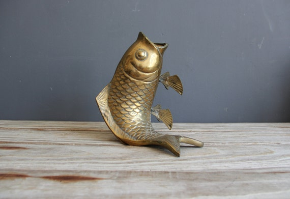 Large brass koi fish vase for Large koi fish