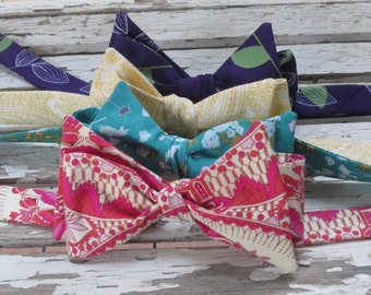 Men's Bowtie - Wedding Bowties in Assorted Prints and Colors, Custom made, Your choice of prints