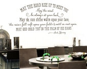 May the road rise up to meet you - Irish Blessing vinyl wall decal