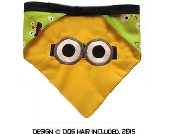 Minion-inspired reversible pet bandana