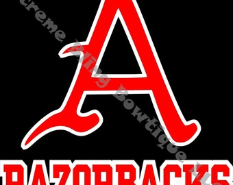 Arkansas Razorbacks Car Decal