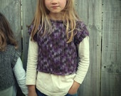 Download Now - CROCHET PATTERN Girl's Cropped Pullover - Sizes 0-12 years - Pattern PDF