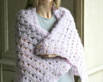 Download Now - Gossamer Wrap - Cast On Triple Crochet Stitch Tutorial - Pattern PDF
