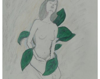 Anubias - original OOAK drawing