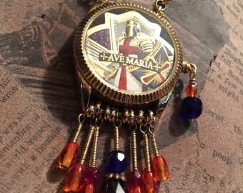Got a Match? Watchcase Necklace