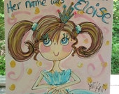 There Once Was A Princess Original Size Personalized Princess Painting