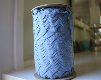 Spool of Sky Blue 100% Cotton Ric Rac