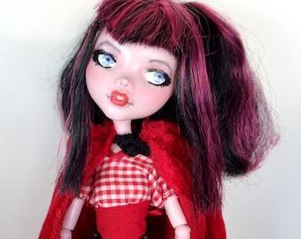 OOAK Monster High Repaint Little Red Riding Hood