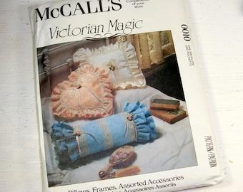 McCalls Victorian Magic Pattern No. 0010, Complete, Uncut, Romance, Pillows, Frames, Bows, Accessories, Sewing Home Decor, 1993  (762-15)