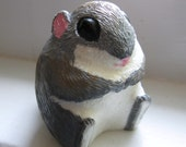 Japanese Dwarf Flying Squirrel Handmade Resin Statue Realistically Painted