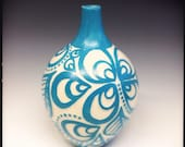 RESERVED: Turquoise Petal Vase-Small (for Ann B)