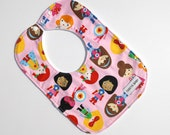 Toddler Bib - Baby Girl Bib - Superhero in Pink Bib - Toddler - Baby Shower Gift -