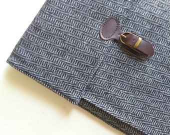 "iPad Air Case /iPad Sleeve /Kindle Cover /Other 9-10"" Tablets Bag, wool herringbone/Padded."