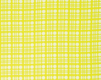 Heather Bailey Fabric by the Yard - Clementine - Dot Weave in Lemon - Quilter's Cotton