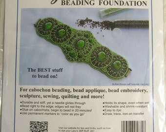 Lacy's Stiff Stuff Beading Foundation - one sheet 8.5 x 11 inches - white