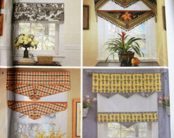 Window Treatment, Valance, Shade, Sewing Pattern, Uncut Simplicity 5342