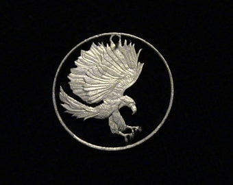 Philippines - cut coin pendant - Eagle and Talons - 1987