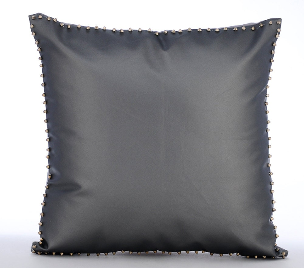 Grey Couch Cushion Covers 20 x 20 Pillow Covers Leather