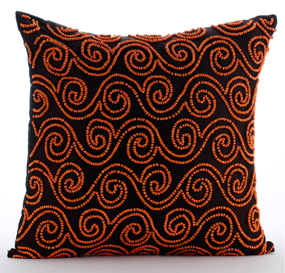Decorative Pillows Brown : Handmade Brown Decorative Pillows Cover 16x16