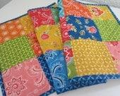Handmade Quilted Tablerunner Moda Fabrics Boho Chic